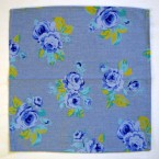 Cloth Napkin Blue Rose Cotton Fabric