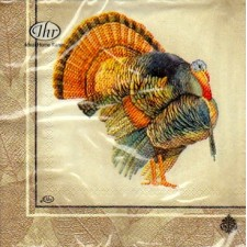 Luncheon Paper Napkin Classic Turkey Cream