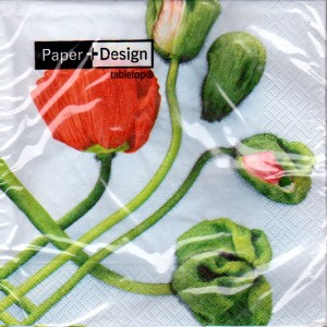 Luncheon Paper Napkin Poppies