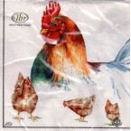 Luncheon Napkin Poultry Chickens