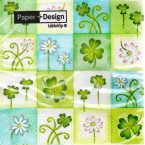 Luncheon Paper Napkin Shamrocks And Daisies
