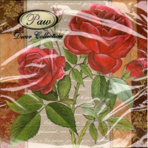 Luncheon Napkin Red Rose