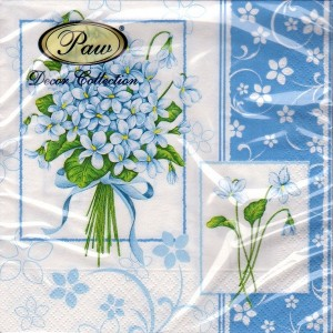Luncheon Napkin Blue Violets