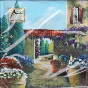 Luncheon Napkin Flowering Terrace